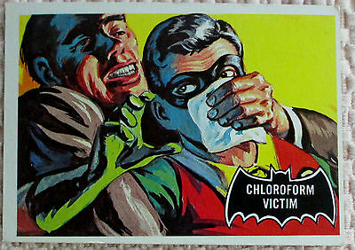 Vintage 1966 Batman Black Bat Trading Card. Chloroform Victim. 4321