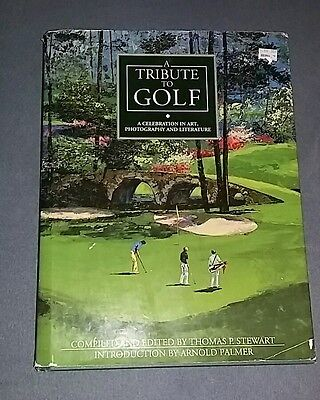 FREE SHIPPING A Tribute to Golf by Tom Stewart ILLUSTRATED Arnold Palmer