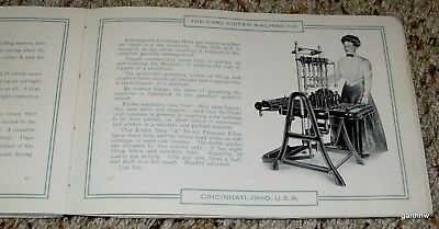 BOTTLING EQUIPMENT ca 1912 CATALOG THE KARL KIEFER MACHINE CO BOTTLER FACTORY