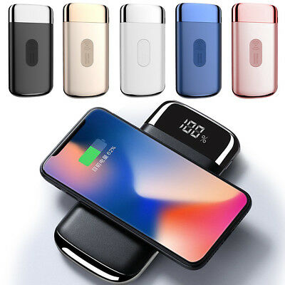 12000mAh Power Bank Qi Wireless Fast Charging USB Portable Battery Charger US