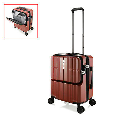 "20"" Red Grid Portable Luggage Cabin Carry-on Luggage Business Travel Suitcase"