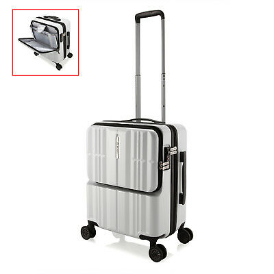 White PC Hard Shell 20 Inch Carry-on Luggage Cabin Trolley Bussiness Suitcase