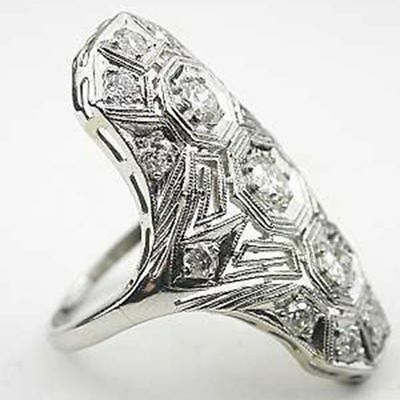 5.2CT White Topaz Jewelry 925 Silver Women Wedding Engagement Ring Size 6-10