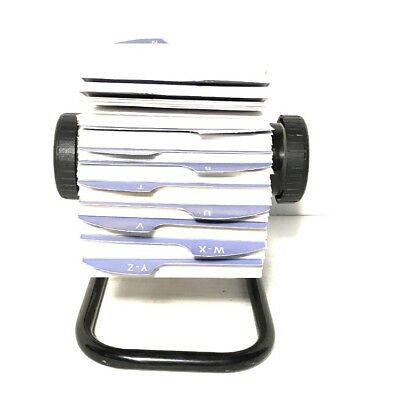 Rolodex Open Rotary Card File Black Metal