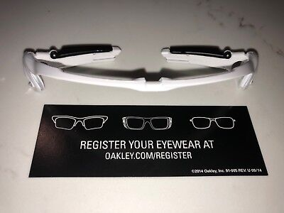 e69aaf1b640 NEW OAKLEY JAWBREAKER Polished White Matte Black Upper Frame Only ...