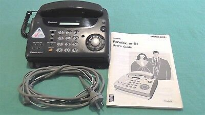 Panafax UF-S1 phone/fax machine. With answering system, Copier & Timer Alarm.