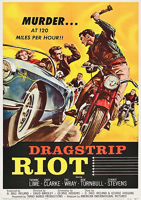Job Lot Of 5 Vintage Hot Rod Movie Laminated Posters Rockabilly Rock N Roll Cars