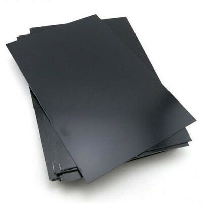 1mm Thickness ABS Styrene Plastic Flat Sheet Plate 200mmx300mm Black Industry