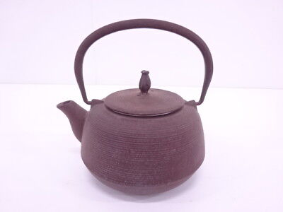 3870130: Japanese Tea Ceremony / Nanbu Tekki Iron Kettle / Fine Lines / Artisan