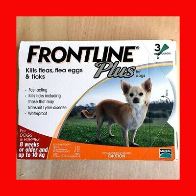 Frontline Plus 3 Pack For Dogs 0-22 lbs (0-10KG) Fast Free Shipping