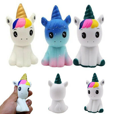 Jumbo Slow Rising Unicorn Squishies Scented Charms Kawaii Squishy Squeeze Toy