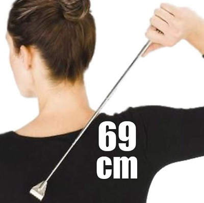 New Extendable Back Scratcher (69 Cm) Stainless Steel Portable Massaging Relax