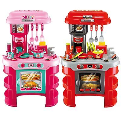 Rexco Large Childrens Kids Kitchen Cooking Role Play Pretend Toy Cooker Set