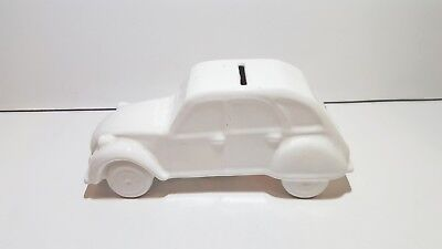 Citroen 2CV Porcelain Moneybox Loucart 19,5 x 8,5 x 7 cm used in good condition