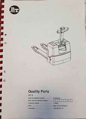 Spare Parts Book BT Dr 13 372000aa