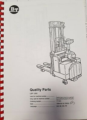 Spare Parts Book BT LSF1250 338436-AA Copy