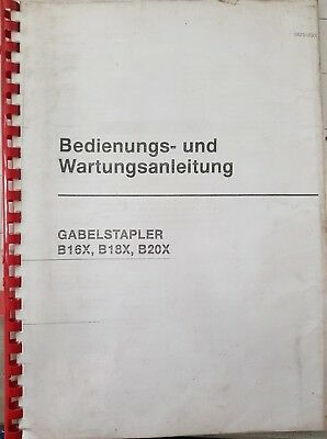 Spare Parts Book Incl. Operating and Maintenance Guide Daewoo Forklift B16X B18X