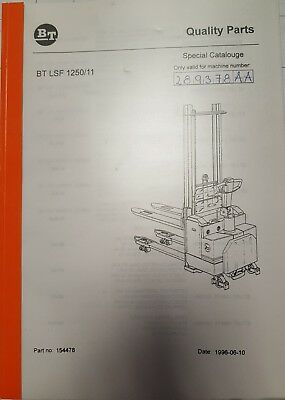 Original Spare Parts Book BT LSF1250/11 Ser.nr 289378AA