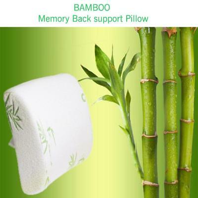 Back Support Pillow Bamboo Cushion Memory Foam Lumbar Back Pain Relief Chair