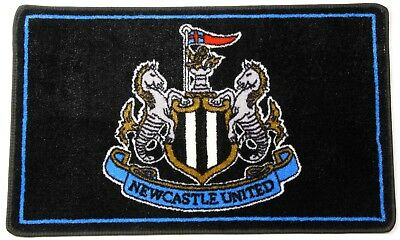 Newcastle United F.c Bedroom Bathroom Rug Official Product Black Crest Official