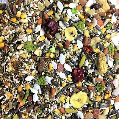 Tropical Parrot Food with Fruit Mix, Macaw, African Grey, Bird Next Day 15Kg