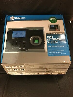 Safescan TA-850 Time attendance system - fingerprint