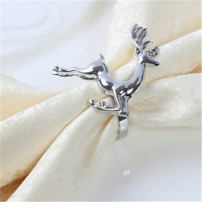 Deer Napkin Rings for Holiday Christmas Dinners Parties Table 8C