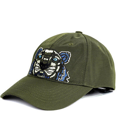 144c3818 KENZO Tiger Cap Mens Womens Khaki Hat 5AC301 F20 51 Adjustable Outdoor Gift  Auth