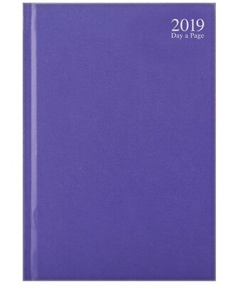 Purple 2019 diary A4/A5/A6 Page a Day/Week to View Pastel mauve year calendar