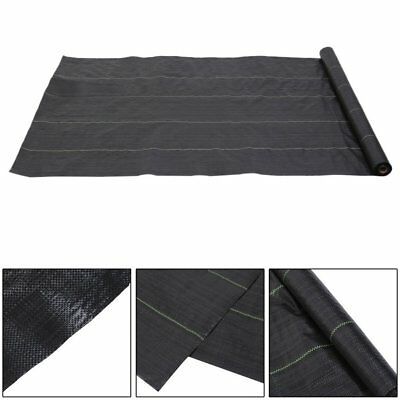 1m X 25m 100gsm Weed Control Fabric Ground Cover Garden Membrane landscape mulch