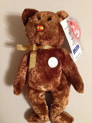 CHAMPION the BEAR  TY Beanie Baby 2002 FIFA World Cup SPAIN Licensed Soccer