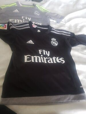 2 Boys REAL MADRID football Tops Aged 7 To 8