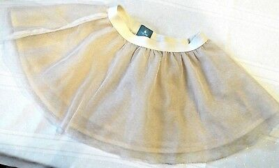 Gap Beige with gold flecks 2 layer twirling skirt s:6-12mo.