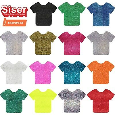 A4 Glitter Vinyl Sheets - Siser Easyweed-HTV Iron On Heat Press Cricut Silhouett