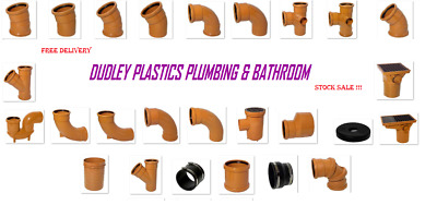 Underground Drainage 110mm Pipe & Fittings, Bends, Traps, Bottle Gully