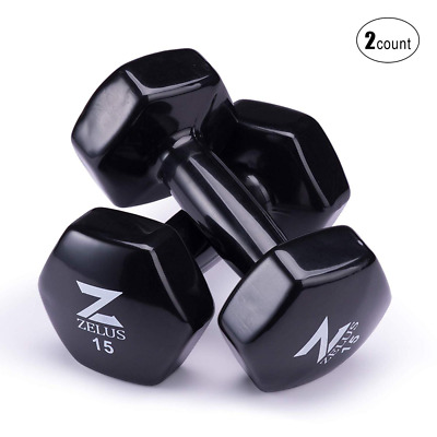 Vinyl Coated Dumbbells Hex Hand Weights with Non Slip Grip & Multi Available HOT