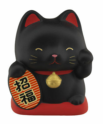 Tirelire chat japonais 10cm ceramique Made in Japan Fortune Maneki Neko 40648