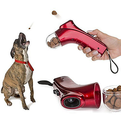 Pet Launcher Training dog food catapult auto pets thrower puppy Snacks Feeder US