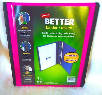 staples 2 inch better view binder with d rings pink by staples