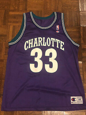 5f97189affd7 ... coupon vintage 90s champion nba charlotte hornets 33 alonzo mourning  purple jersey 48 bdc4a 43f4f
