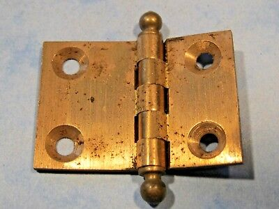 Old brass hinges x3