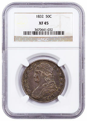 1832 Silver Capped Bust Half Dollar 50C NGC XF45 SKU55671