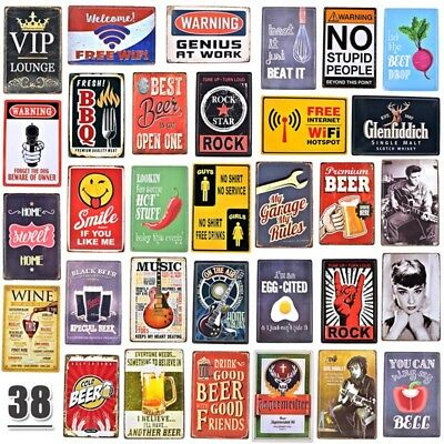 3D Vintage Tin Metal Beer Sign Glenfiddich BBQ Rock Garage Iron Painting  Poster