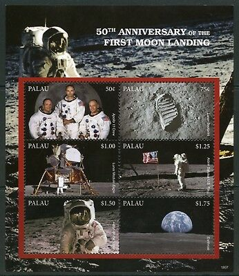 PALAU 2018 50th ANNIVERSARY OF THE FIRST MOON LANDING  SHEET MINT NH