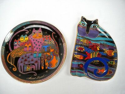 Franklin Mint Royal Doulton Laurel Burch Cat Fish, Laurel Burch Fabulous Felines
