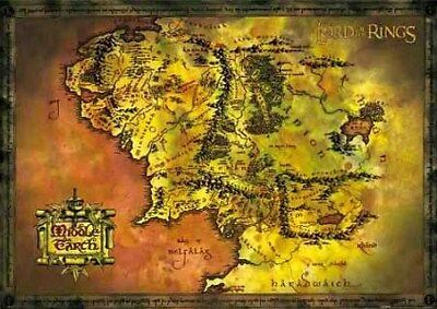 Lord of the Rings Maxi Poster 91,5 x 61 cm Middle Earth Map