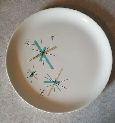 "SALEM NORTH STAR ATOMIC LUNCHEON Plate 9"" vintage retro SPACE AGE MODERN MCM"