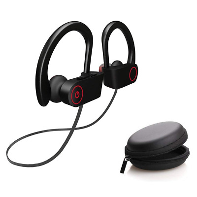 Bluetooth Headphones Sports Wireless Earbuds Noise Cancelling in Earhook NEW US