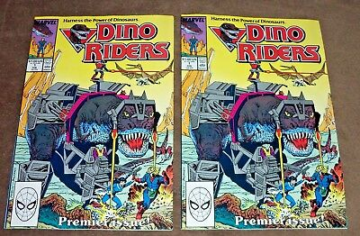 (2) Dino Riders #1 Marvel Comics Lot ~ Feb, 1989 Tyco Toys, TV Series NM-