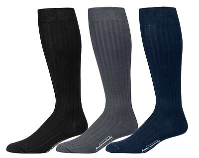 Mens Cotton Dress Socks Work Business Formal Luxury Over the Knee High Winter